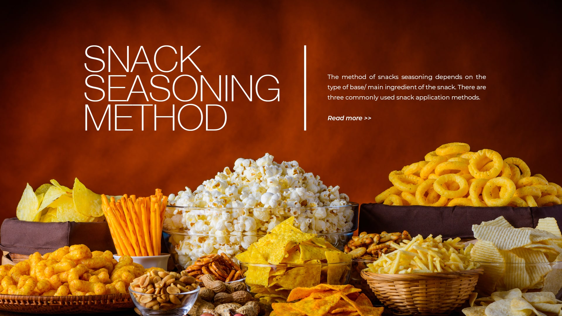 snack seasoning method